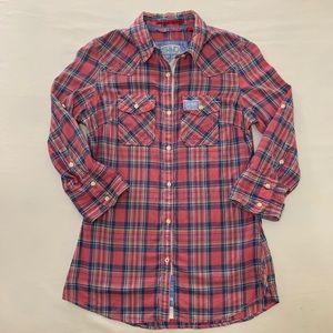 Superdry Plaid Button Down Shirt